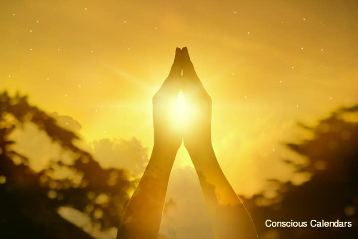 yellow prayer hands